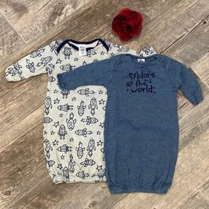 Space theme baby sleep gowns / sacks - 0-6 month